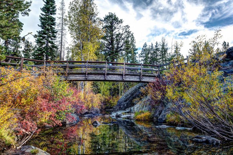 Footbridge on Frazier Falls trail