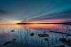 Pastels at sunset, Folsom Lake