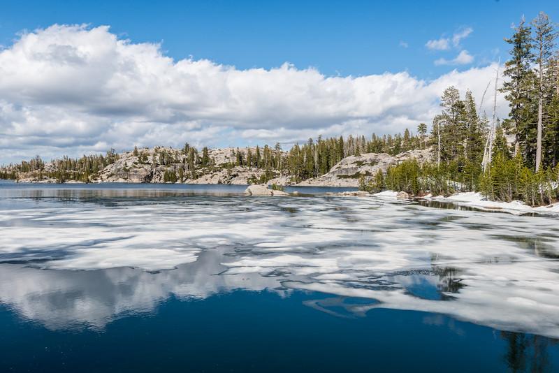 Island Lake, Grouse Ridge spring thaw