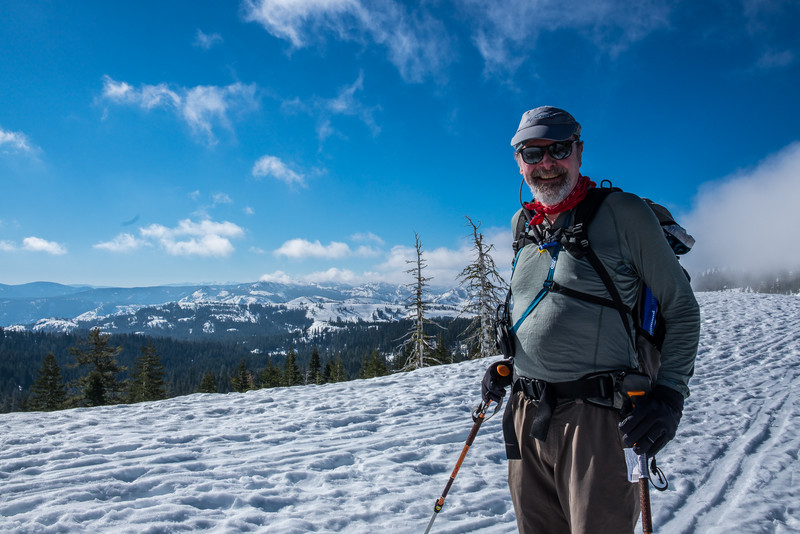 Brad, Castle Peak ski tour