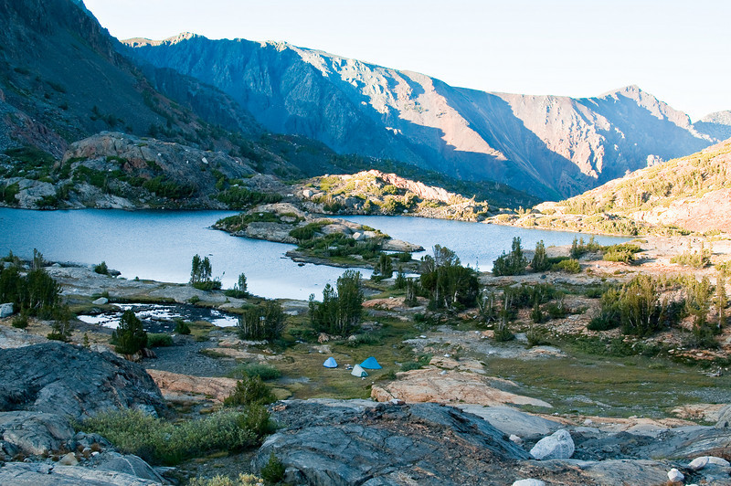 Campsite in the Twenty Lakes Basin, Sierras