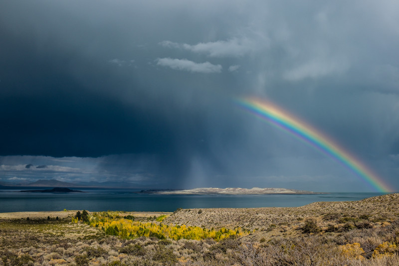 Fall Rainbow over Mono Lake