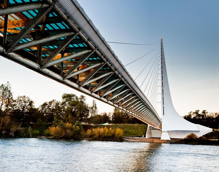 Sacramento river and the Sundial Bridge in Redding
