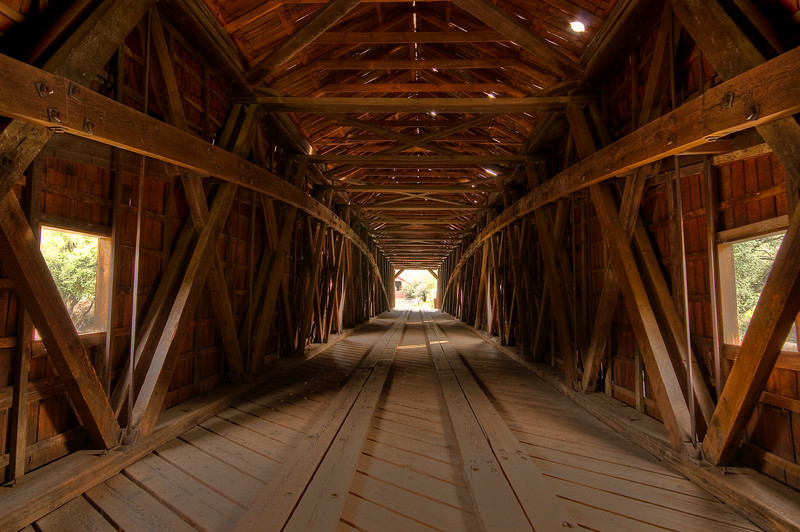 Bridgeport is one of only 10 covered bridges remaining in California. The bridge is in very good condition considering its age. Built in 1862, at 251 feet, it is the longest single span covered bridge in the United States.