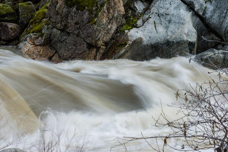 S. Fork Yuba River winter storm flows