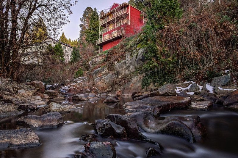 the red house, Deer Creek in Nevada City