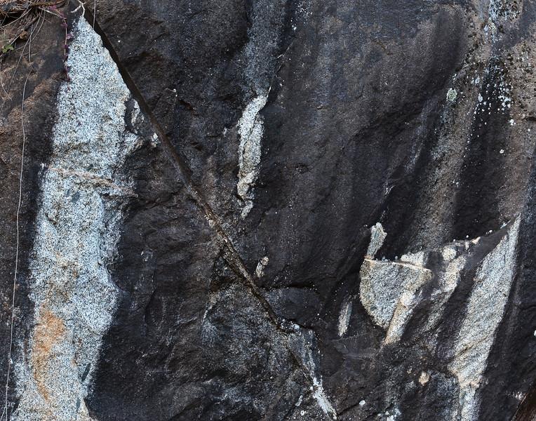 granite abstract, Tribute Trail, Nevada City