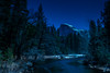 Merced River and Half Dome by Moonlight