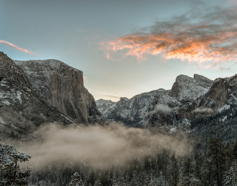 The valley from Tunnel View, clearing storm in morning
