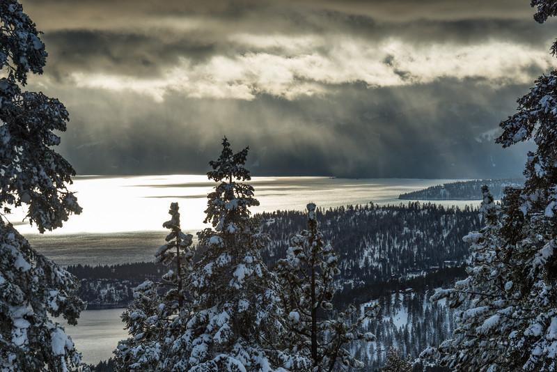 December clouds over Lake Tahoe