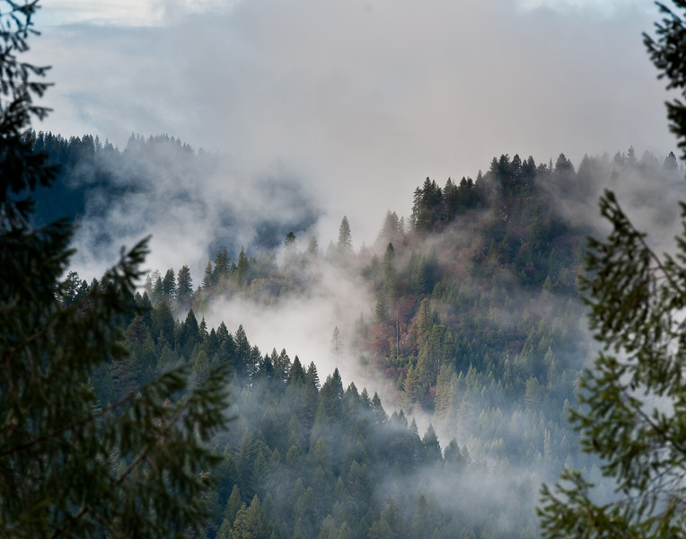 Canyon and clouds, North Fork of the Yuba