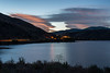 Topaz Lake and lenticular clouds at sunset