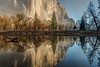 Merced River reflections of El Capitan