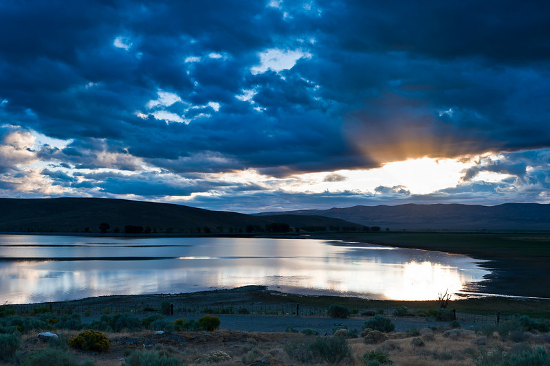 First rays on Topaz Lake