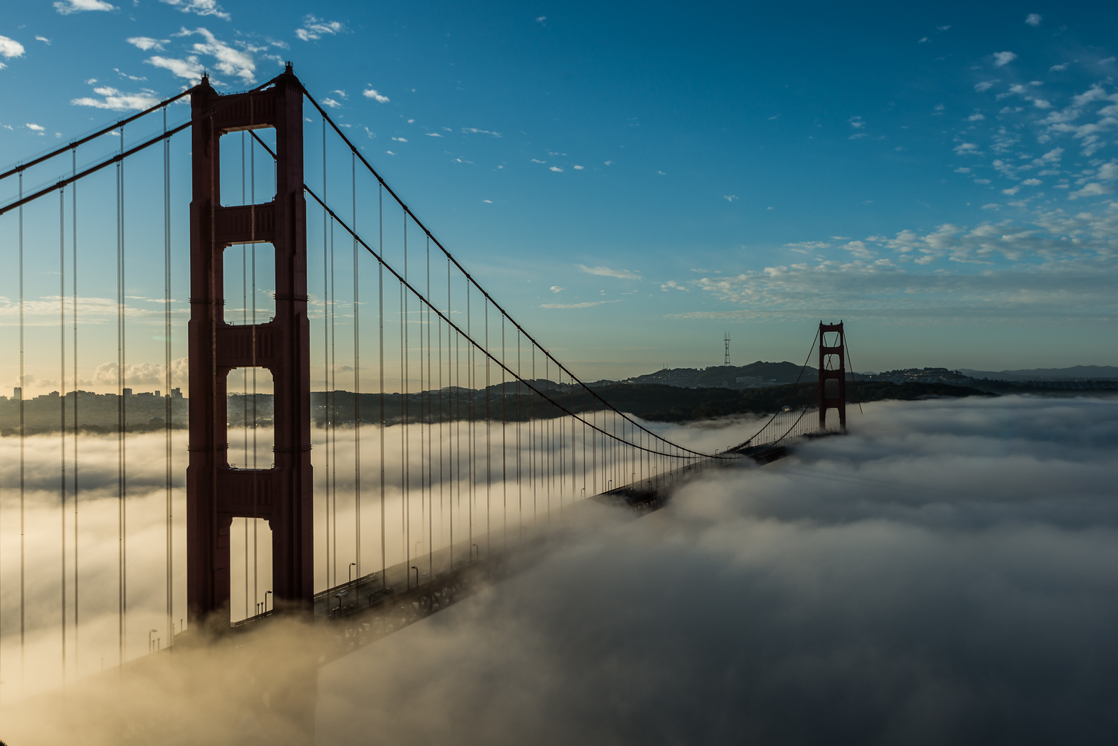 Morning fog and the Golden Gate