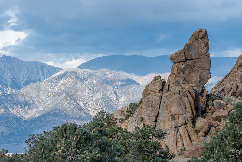 east of the Sierra Nevada range on Hwy. 120