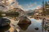 Shoreline rocks and reflections, Tenaya Lake, Yosemite