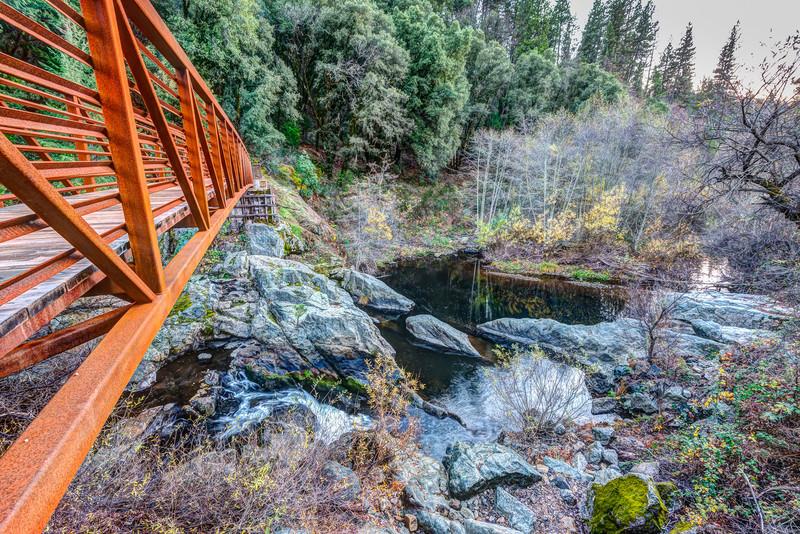 Tribute trail bridge over Deer Creek, Nevada City