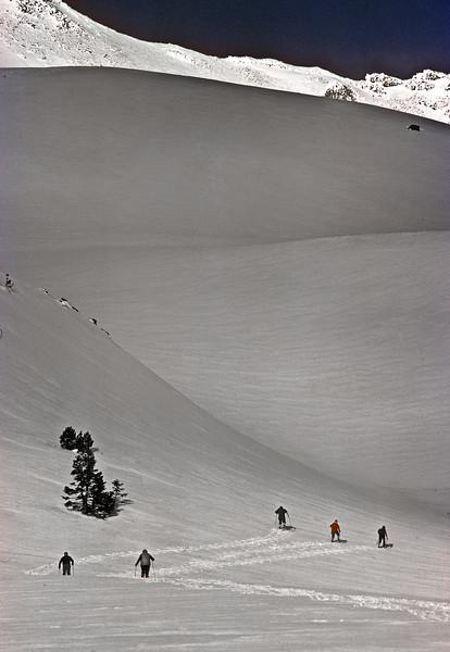 skiers, Mt. Shasta
