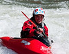 Emily Jackson, word champion freestyle kayaker at the Reno Riverfest