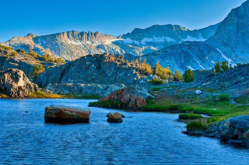 The Sierra Crest from Twenty Lakes Basin