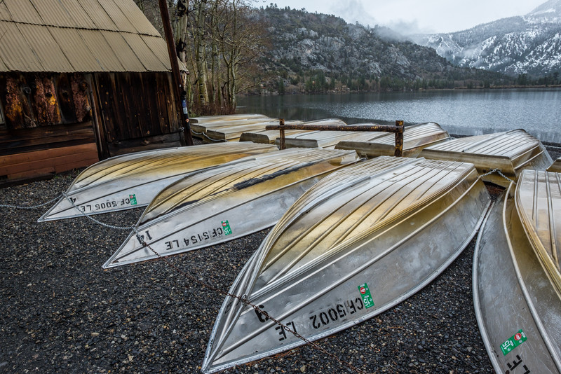 Fishing boats, Silver Lake