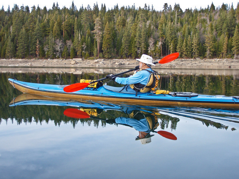 At 80+ years old, Dave is still paddling strong, Sierras