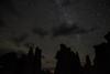 Starry night with clouds, Mono Lake tufa