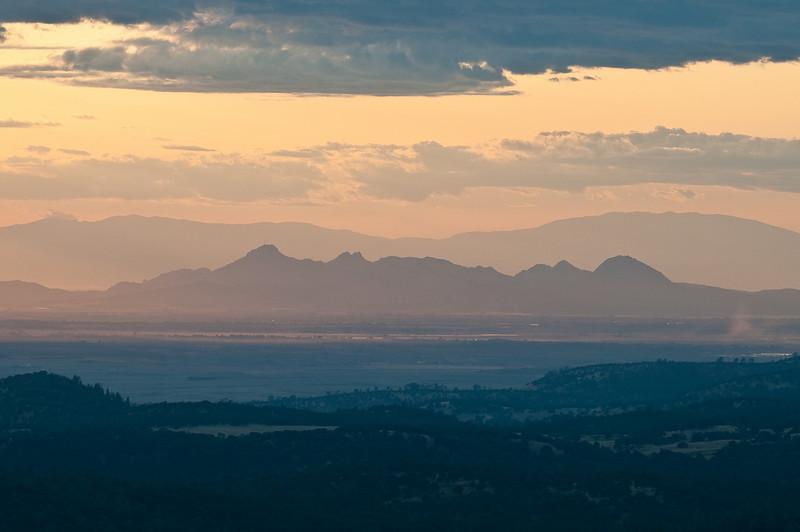 The Sutter Buttes from Wolf Mountain