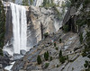 Hikers on the Mist Trail, and Vernal Falls