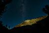 The moonlit walls of Horsecreek Canyon