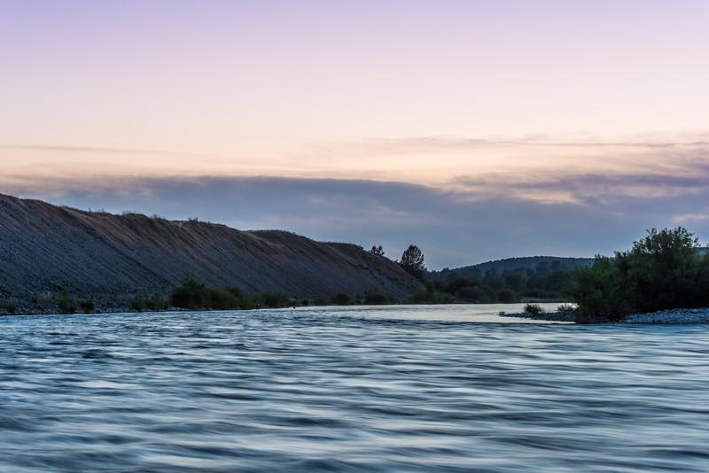 Evening flyfishers, Yuba River