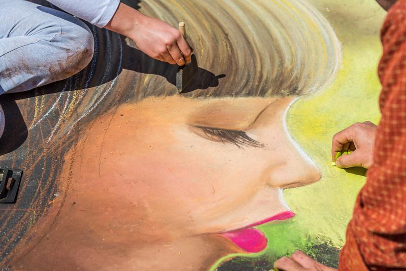 i Madonnari Italian Street Painting Festival, Santa Barbara Mission