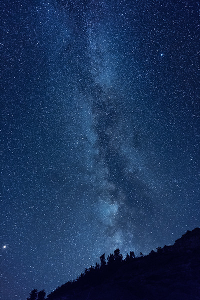 Milky Way from Golden Trout Lakes basin, 11,200'