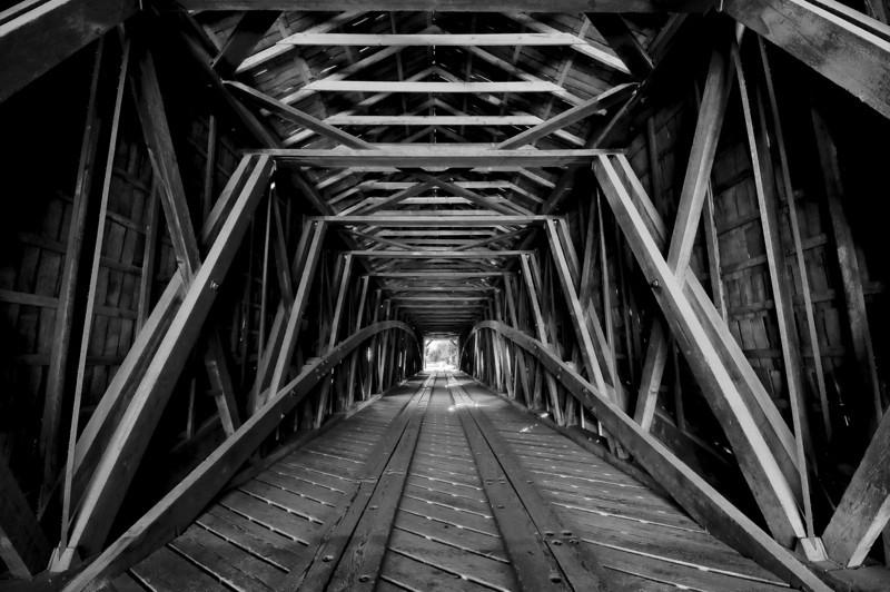 Bridgeport Covered Bridge Trusses
