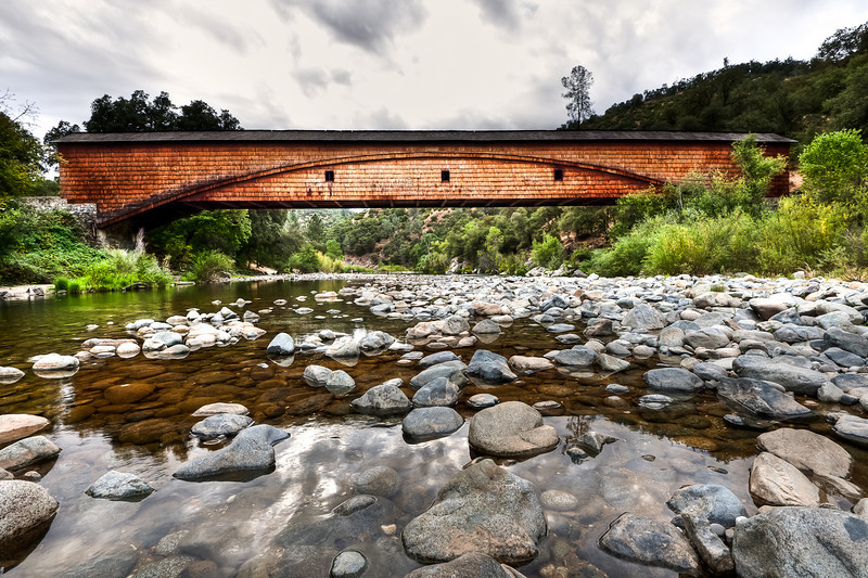 South Fork of the Yuba River and the Bridgeport covered bridge