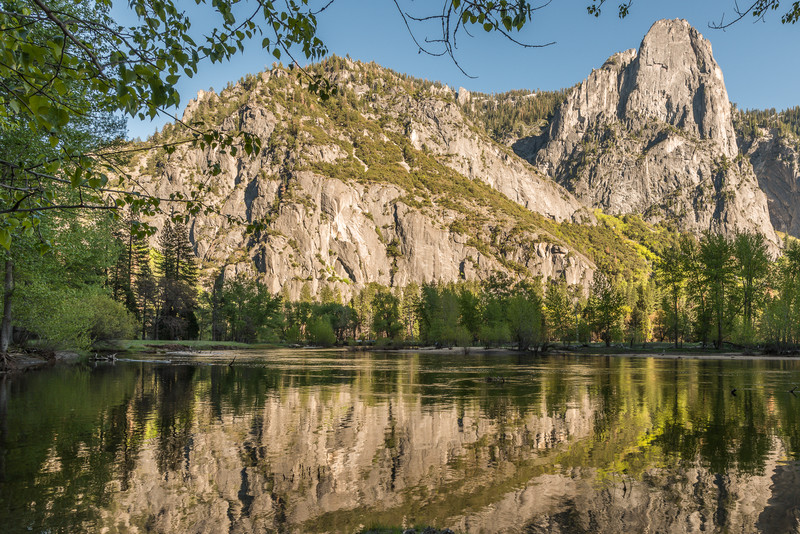Merced River and Sentinel Rock, Yosemite Valley