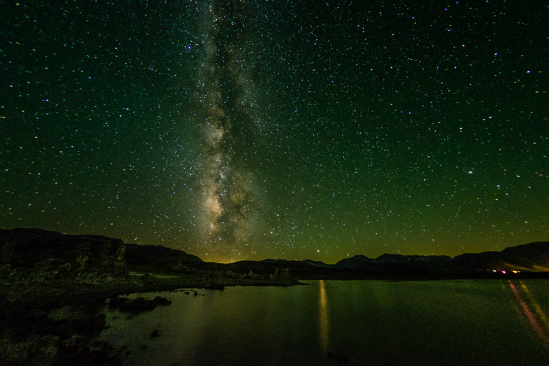 Mono Lake and Milky Way