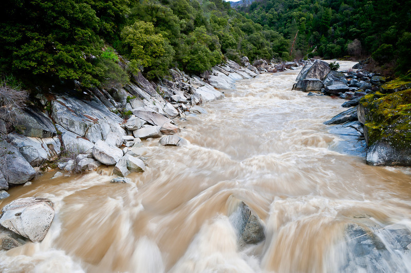 South fork of the Yuba River flowing at 7300 cfs, March 2011
