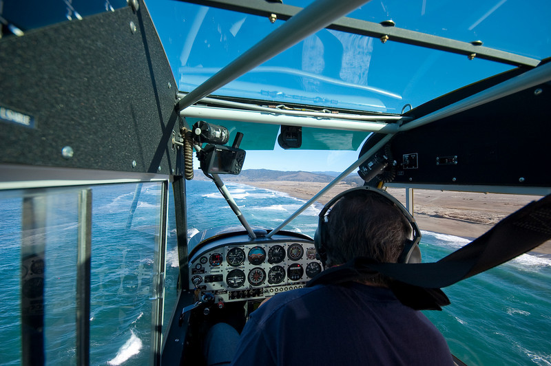 In Robb Brewer's Husky, flying along MacKerricher State Park on the California North Coast