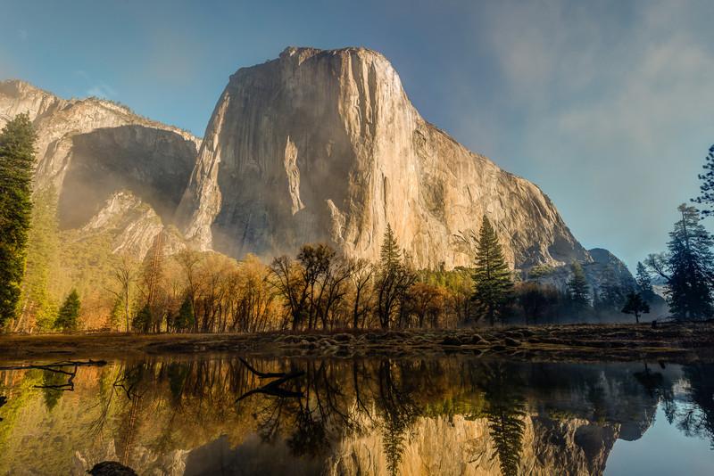 Merced River and El Cap reflection