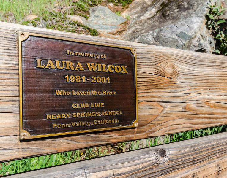 Laura Wilcox bench, Buttermilk trail