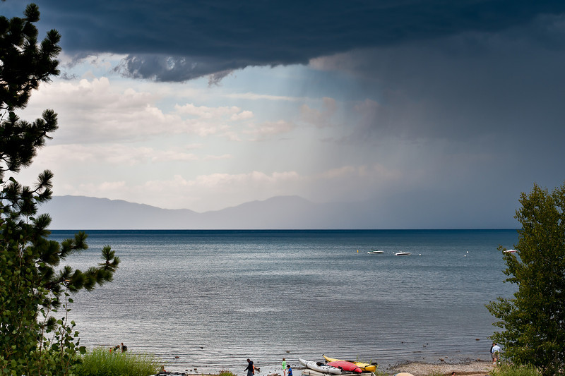 Lake Tahoe and summer storm