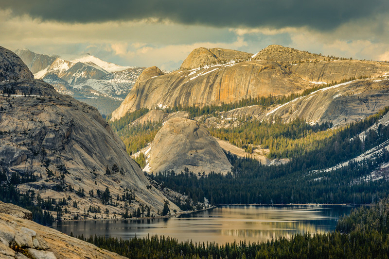 Mt. Conness, Pywiack Dome, and Tenaya Lake from Olmsted Point, Yosemite High Country