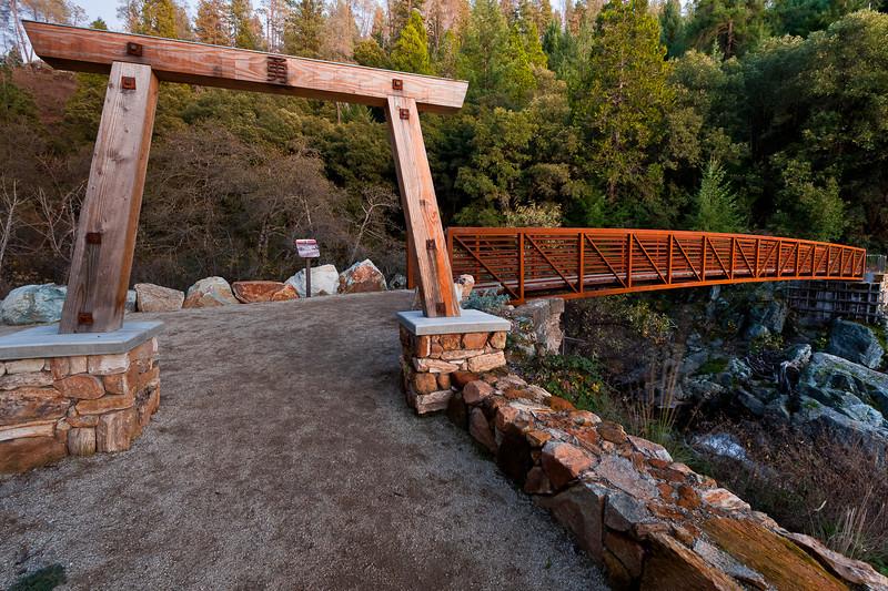 the Tribute Trail bridge over Deer Creek