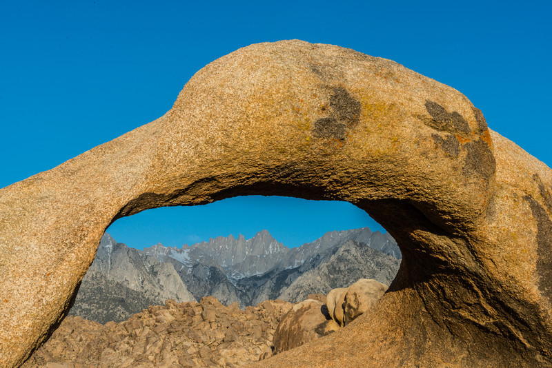 Mount Whitney from the Mobius Arch
