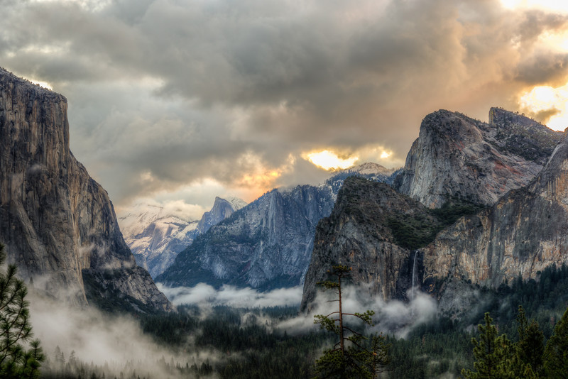Clearing winter storm, Yosemite Valley