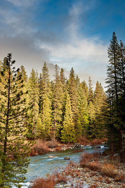 January storm clearing on the north fork of the Yuba