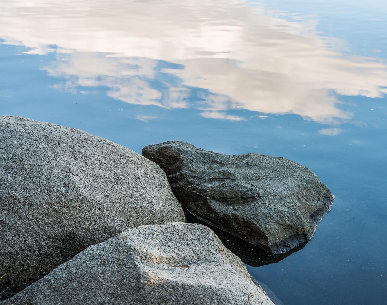 Shoreline granite, Island Lake