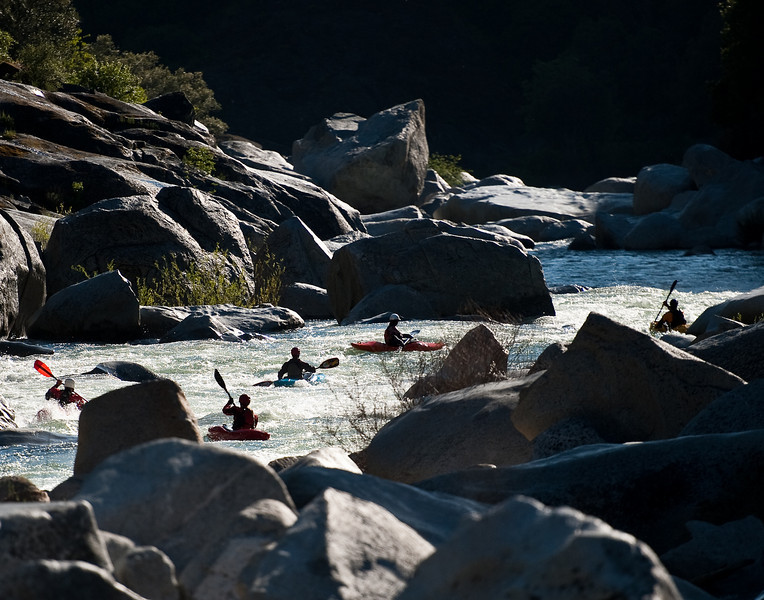Kayaking on the South Yuba